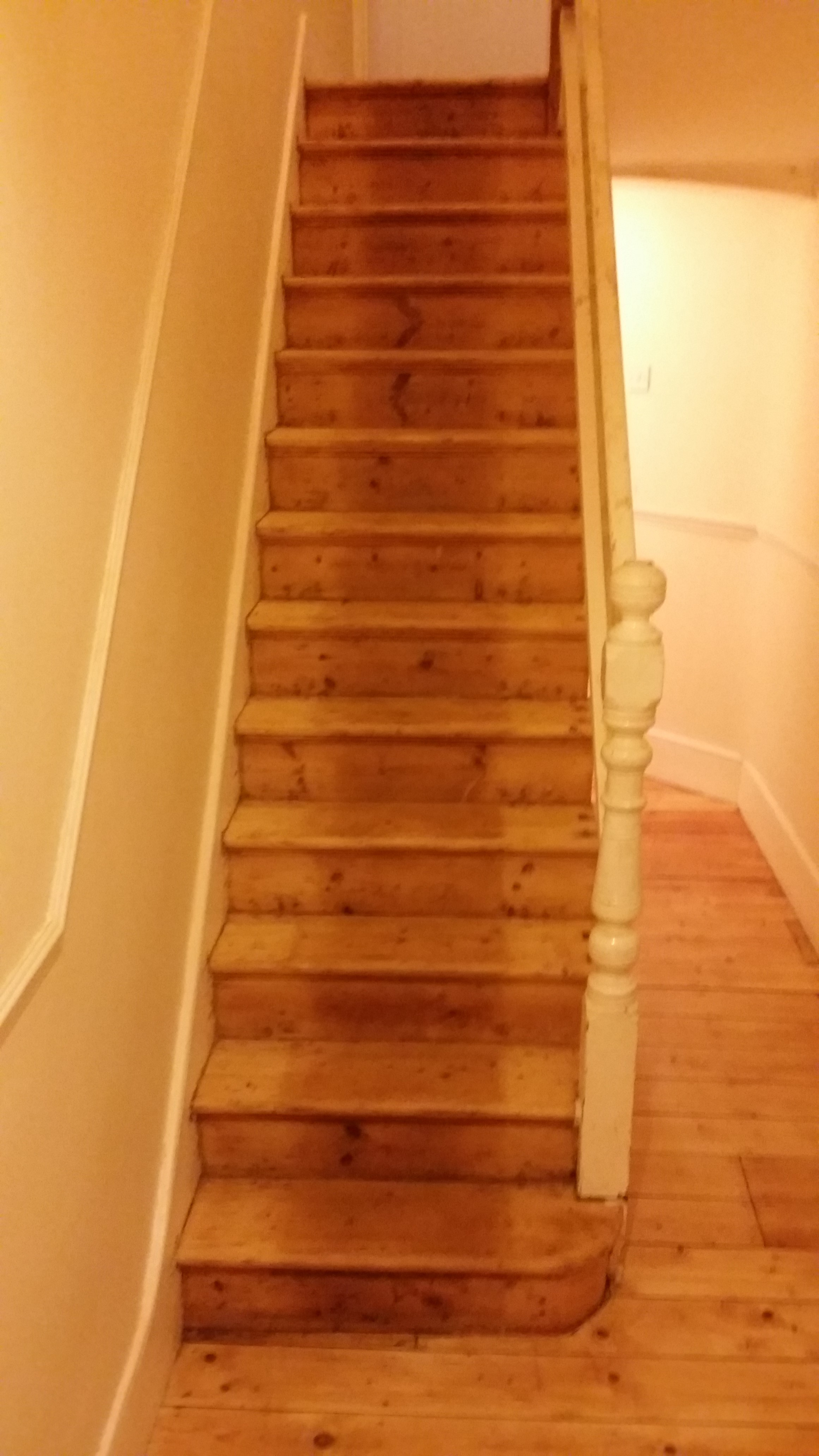 Wooden Staircase Before Visual Improvement In Wood Floor Restoration